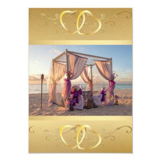 """Cabaña del boda en la playa Invitation3 Invitación 5"""" X 7"""""""