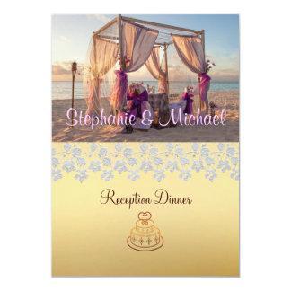 """Cabaña del boda en la tarjeta del menú de la cena invitación 5"""" x 7"""""""