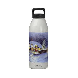 Cabaña del navidad botella de beber