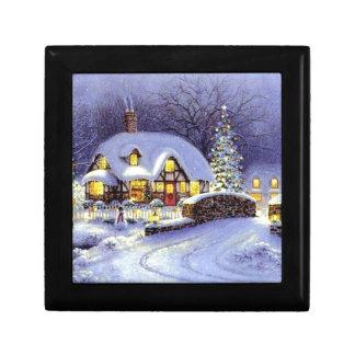 Cabaña del navidad cajas de joyas