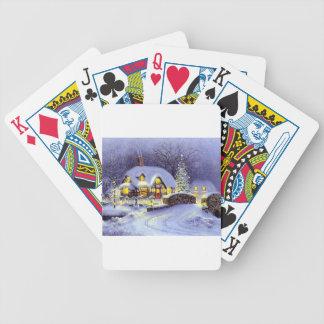 Cabaña del navidad cartas de juego
