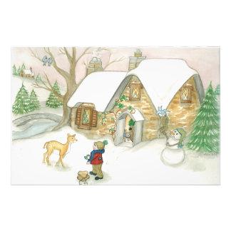 Cabaña del navidad fotografías