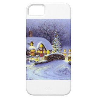 Cabaña del navidad iPhone 5 Case-Mate cárcasa