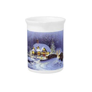 Cabaña del navidad jarrones