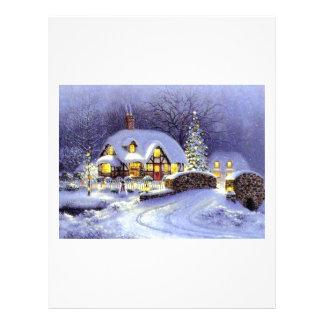 Cabaña del navidad plantillas de membrete