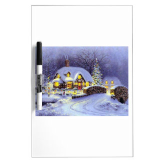 Cabaña del navidad pizarra