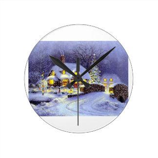Cabaña del navidad relojes