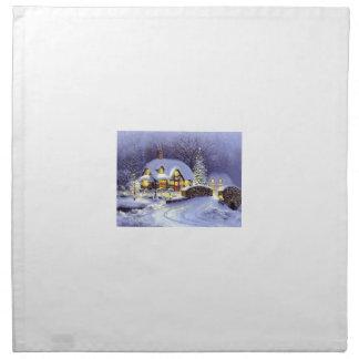 Cabaña del navidad servilleta