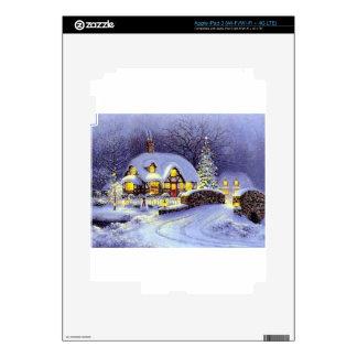 Cabaña del navidad iPad 3 pegatina skin