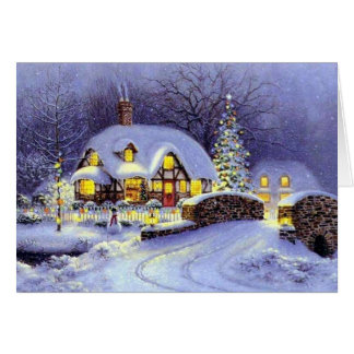 Cabaña del navidad tarjeta de felicitación