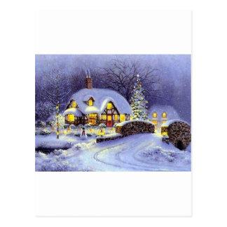 Cabaña del navidad postal