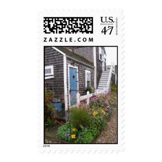 Cabaña del norte vieja de Nantucket del muelle Timbres Postales