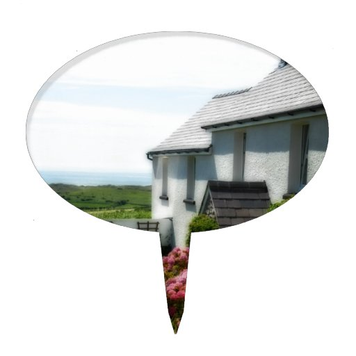 Cabaña del país en País de Gales Decoraciones De Tartas