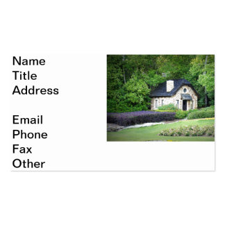 Cabaña del país tarjeta de negocio