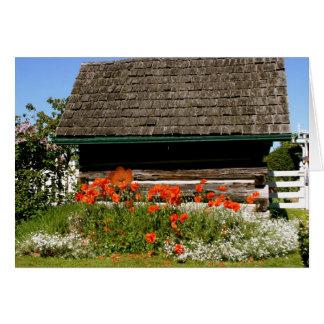 Cabaña del verano tarjeta de felicitación