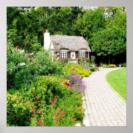Cabaña en los jardines ingleses impresiones