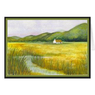 Cabaña en los pantanos #9 tarjeta de felicitación