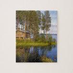 Cabaña, Finlandia Puzzle Con Fotos