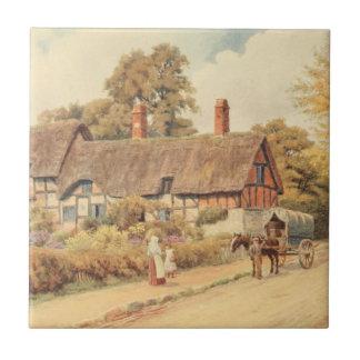 Cabaña III, Stratford-sobre-Avon de Anne Hathaway Azulejo Cuadrado Pequeño