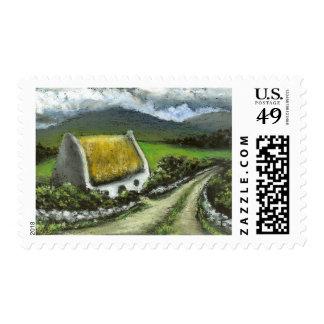 Cabaña irlandesa cubierta con paja franqueo
