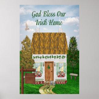 Cabaña irlandesa de la bendición impresiones