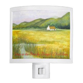 Cabaña irlandesa en la luz #4 de la noche de los luces de noche