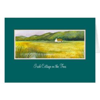 Cabaña irlandesa en los pantanos de Brigid O'Neill Tarjeta De Felicitación