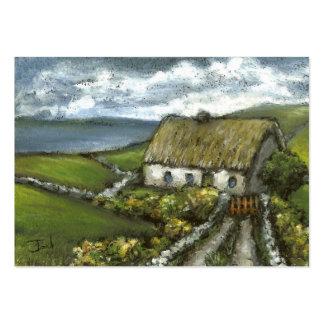 Cabaña irlandesa tarjetas de visita grandes