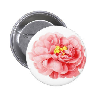 Cabaña lamentable subió col rosada de la flor pin redondo de 2 pulgadas