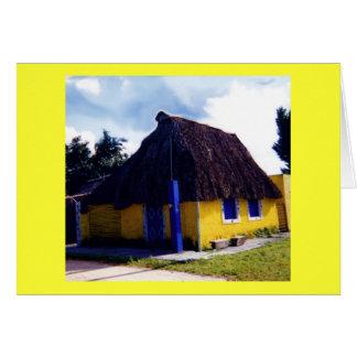 Cabaña linda #2 de Cozumel Tarjeta De Felicitación