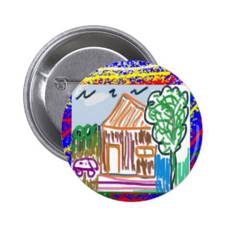 CABAÑA LINDA: DIVERSIÓN dulce del arte del hogar K Pin Redondo De 2 Pulgadas