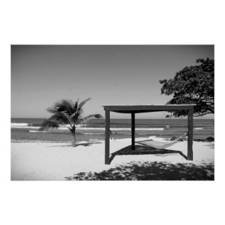 Cabaña por la playa - Labedee Haití BW 2012 3534 Póster