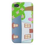 Cabaña - primavera iPhone 4/4S carcasas