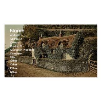 Cabaña suiza, Lee (Devon), Inglaterra Photochro ra Tarjeta De Visita