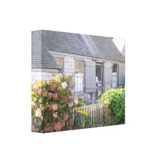 Cabaña vieja de Lang Syne Nantucket Impresión De Lienzo