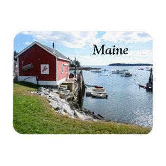 cabaña y barcos de la langosta en Maine Imán