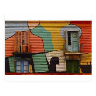 Cabañas coloridas Buenes Aires la Argentina Postal