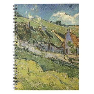 Cabañas cubiertas con paja de Vincent van Gogh Libro De Apuntes Con Espiral