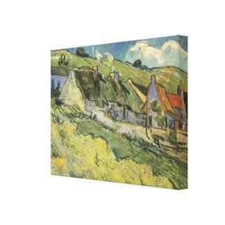 Cabañas cubiertas con paja de Vincent van Gogh Lona Envuelta Para Galerias