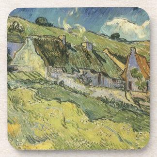 Cabañas cubiertas con paja de Vincent van Gogh Posavasos