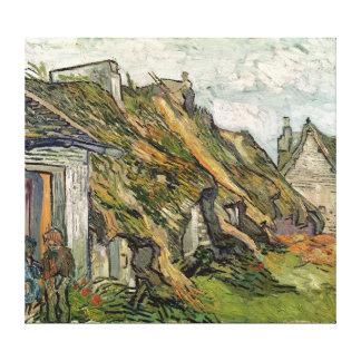Cabañas cubiertas con paja en Chaponval Impresiones De Lienzo