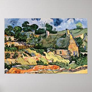 Cabañas cubiertas con paja en Cordevilledeutsch: Póster