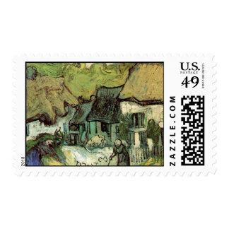 Cabañas cubiertas con paja en Jorgus de Vincent Sello