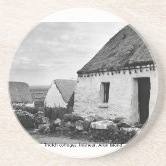 Cabañas de la paja, islas Irlanda de Aran Posavasos Para Bebidas