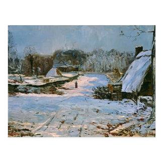 Cabañas de Máximo Maufra- en la nieve Postal