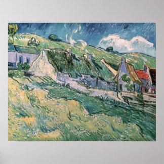 Cabañas en el Auvers-sur-Oise, 1890 Póster