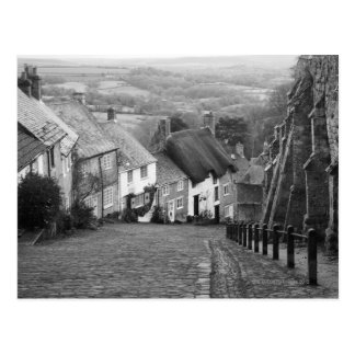 Cabañas en una colina de oro, Shaftesbury, Dorset, Postal