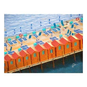 Beach Themed Cabanas of Sorrento Elegant Photo Art