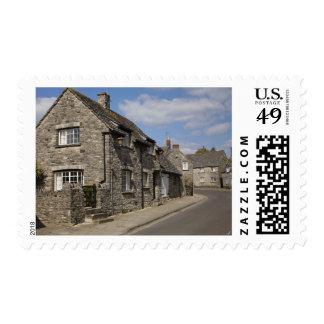 Cabañas, pueblo del castillo de Corfe, Dorset, Estampillas