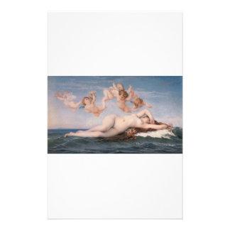 Cabanel Alejandro el nacimiento de Venus 1863 Personalized Stationery